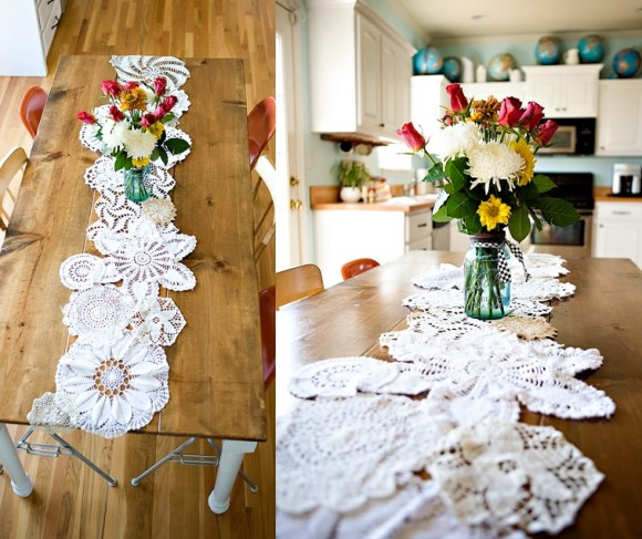 All diy ideas Things runner DIY table Ideas: Doily